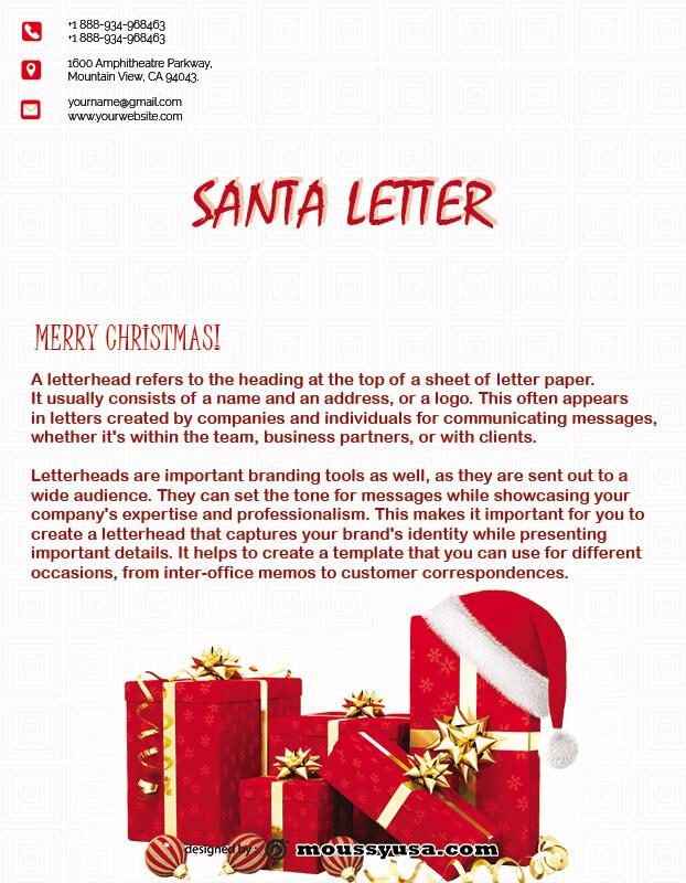 Santa Letter in psd design