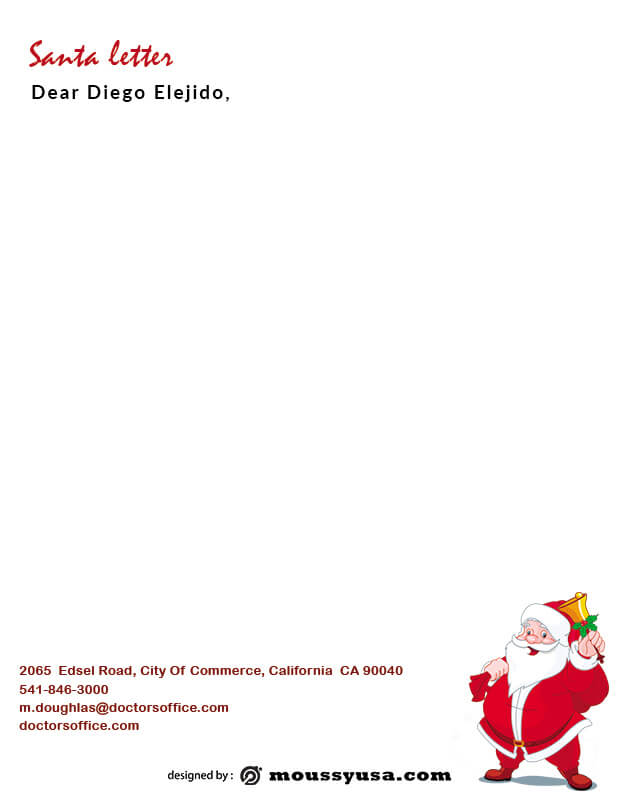 Santa Letter psd template free