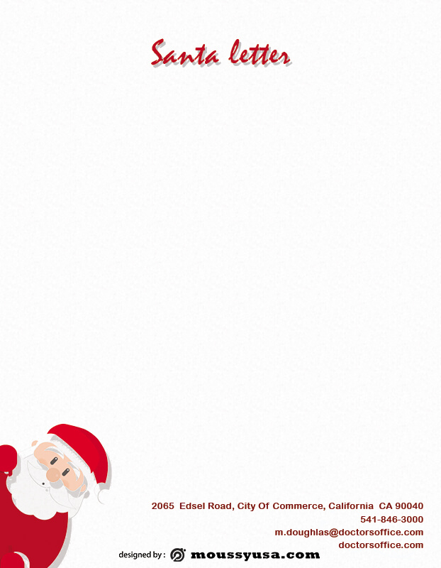 Santa Letter template free psd