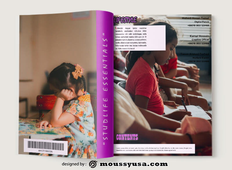 School Magazine Design Ideas