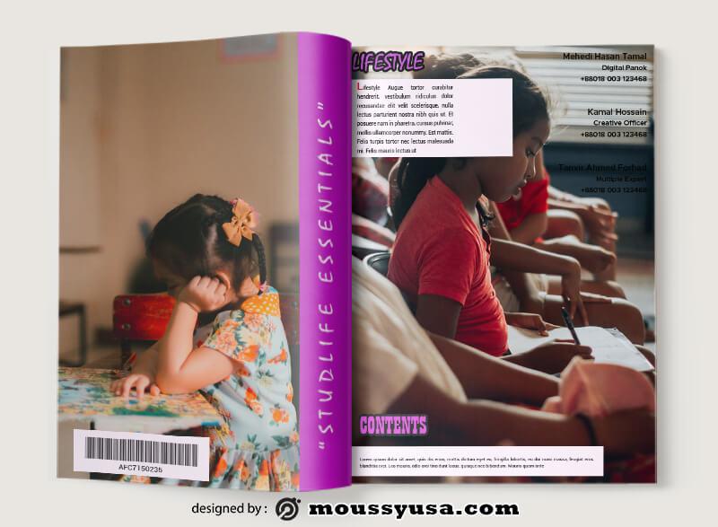 School Magazine Design Ideas