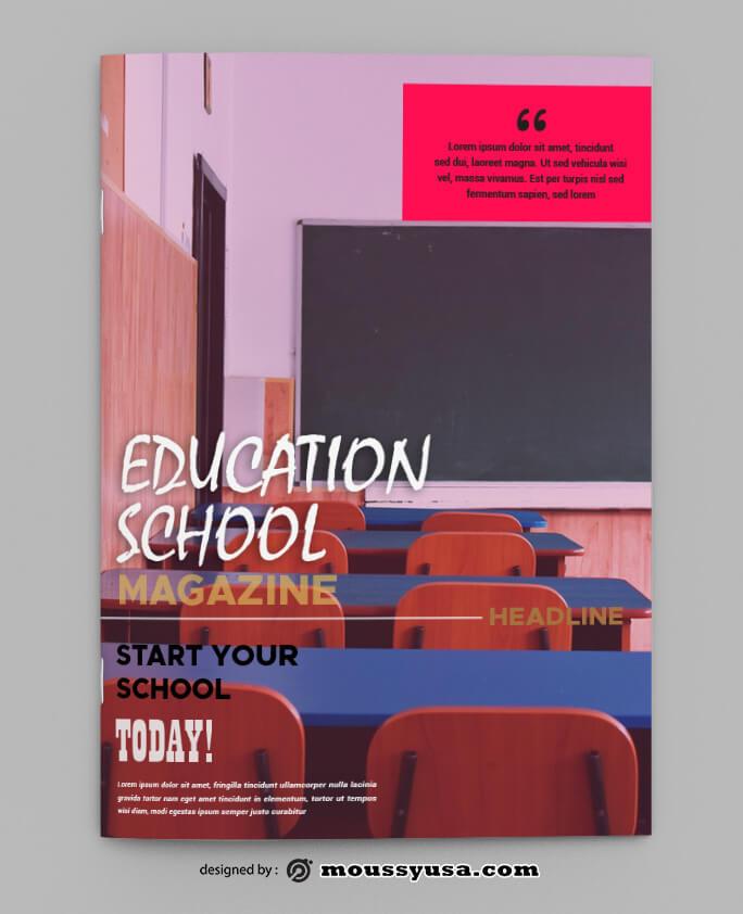School Magazine Design PSD