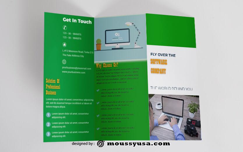 Software Company Brochure templates Design