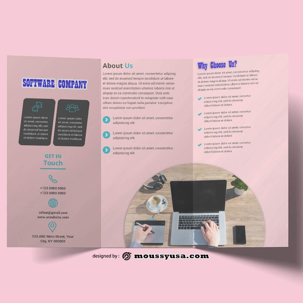 Software Company Brochure templates Example