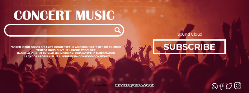 Souncloud Banner in photoshop free download