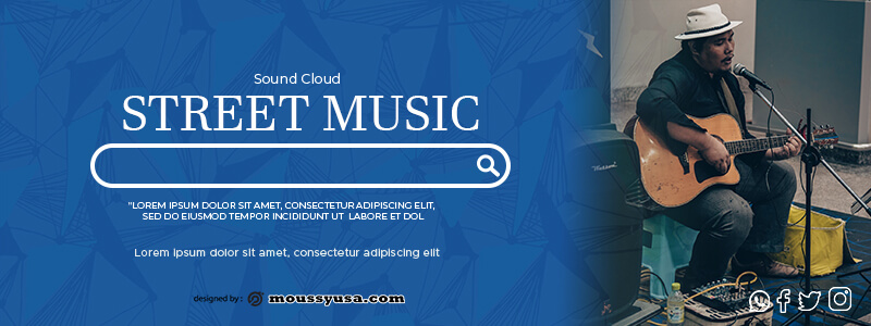 Souncloud Banner in photoshop