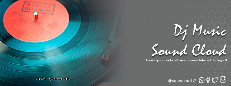 Souncloud Banner psd template free