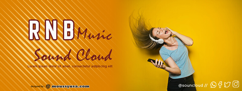 Souncloud Banner template free psd
