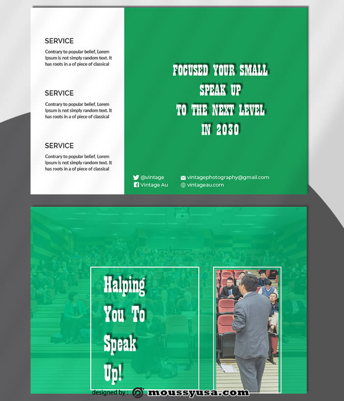 Spaker Postcard Design Ideas