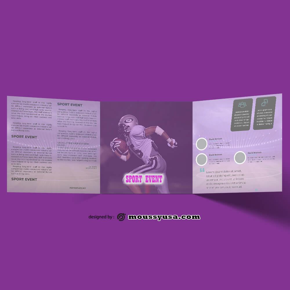 Sport Event Brochure Design PSD
