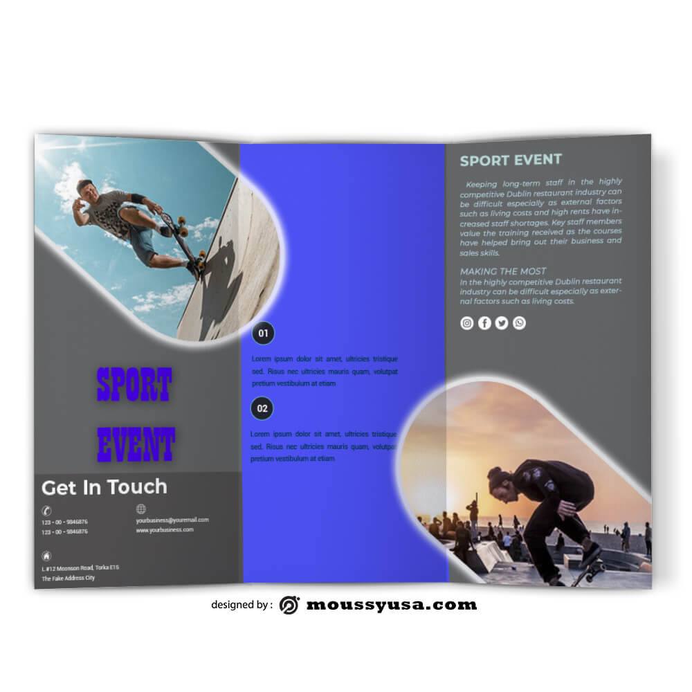 Sport Event Brochure Design templates
