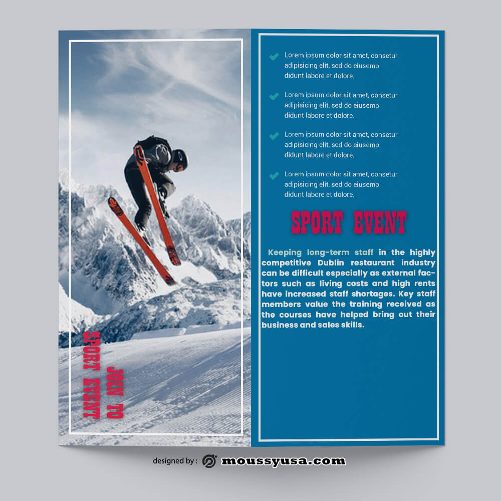 Sport Event Brochure templates Example