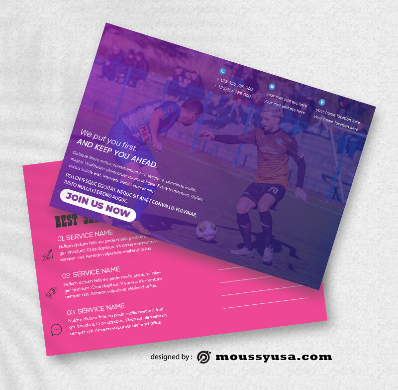 Sport Postcard templates Sample