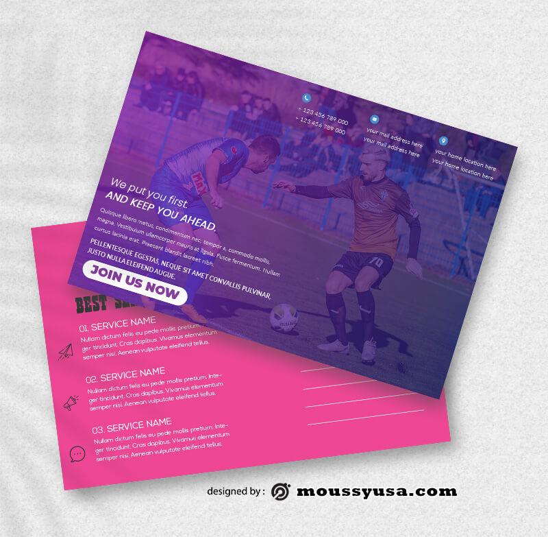 Sport Postcard templates Sample