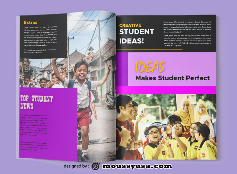 Student Magazine templates Sample