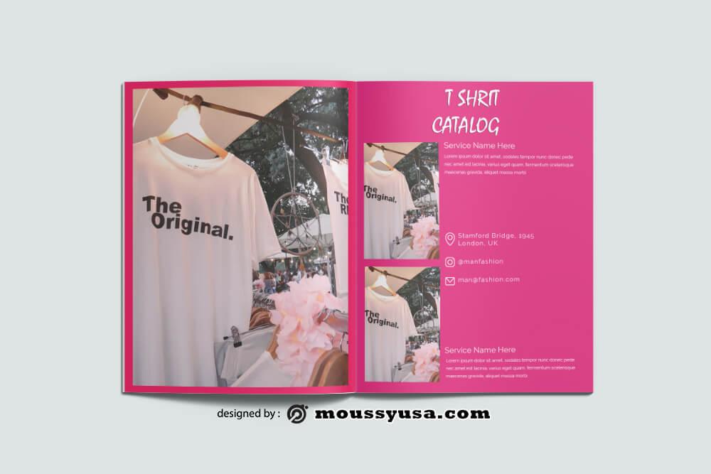 T shirt Catalog templates Example