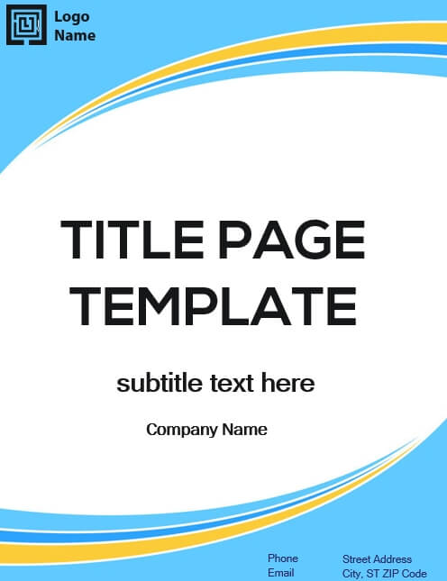 Title Page in word