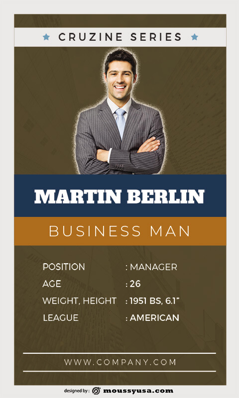 Trading Card free download psd
