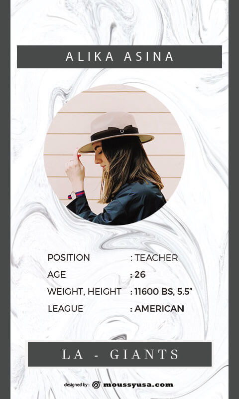 Trading Card in photoshop free download