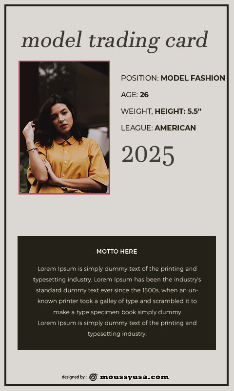 Trading Card template for photoshop