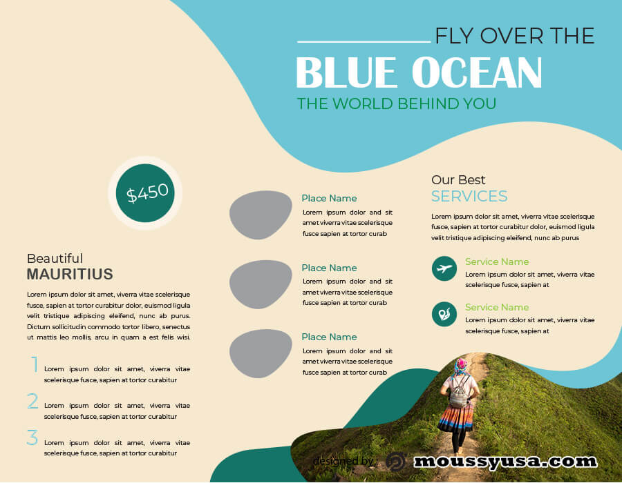 Travel Brochure example psd design
