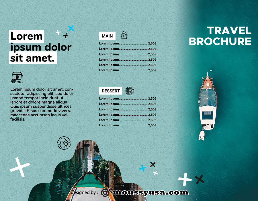 Travel Brochure free psd template