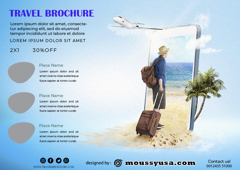 Travel Brochure in psd design