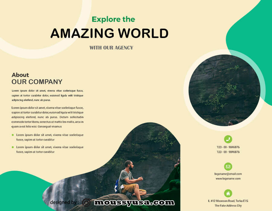 Travel Brochure psd template free