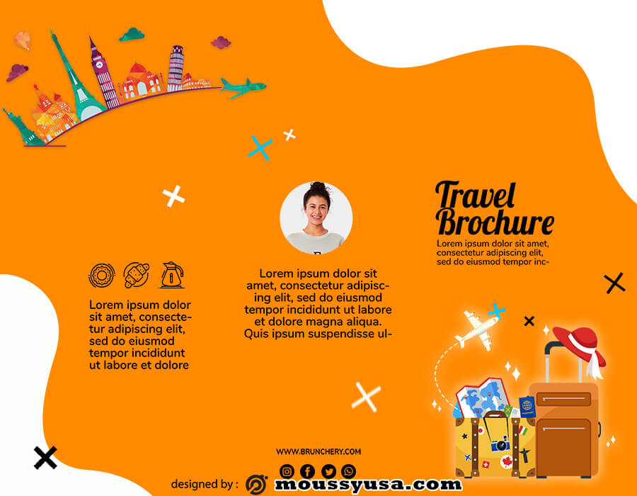 Travel Brochure template free psd