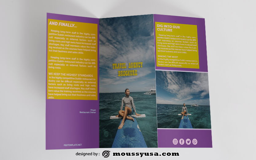 Travel Brochure templates Design