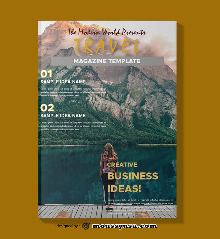Travel Magazine templates Sample
