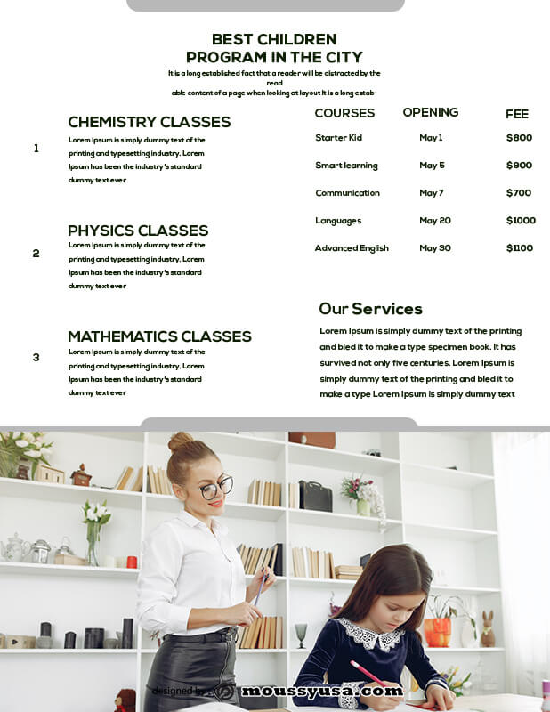 Tutoring Flyers in photoshop