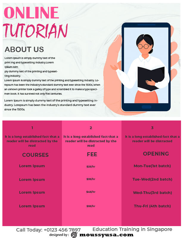Tutoring Flyers template for photoshop