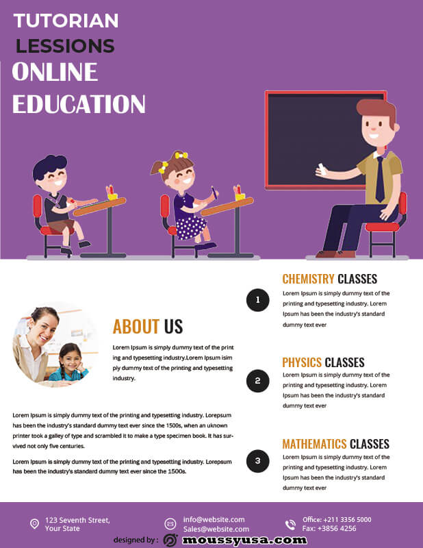 Tutoring Flyers template free psd