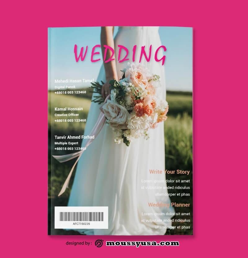 Wedding Event Magazine templates Design