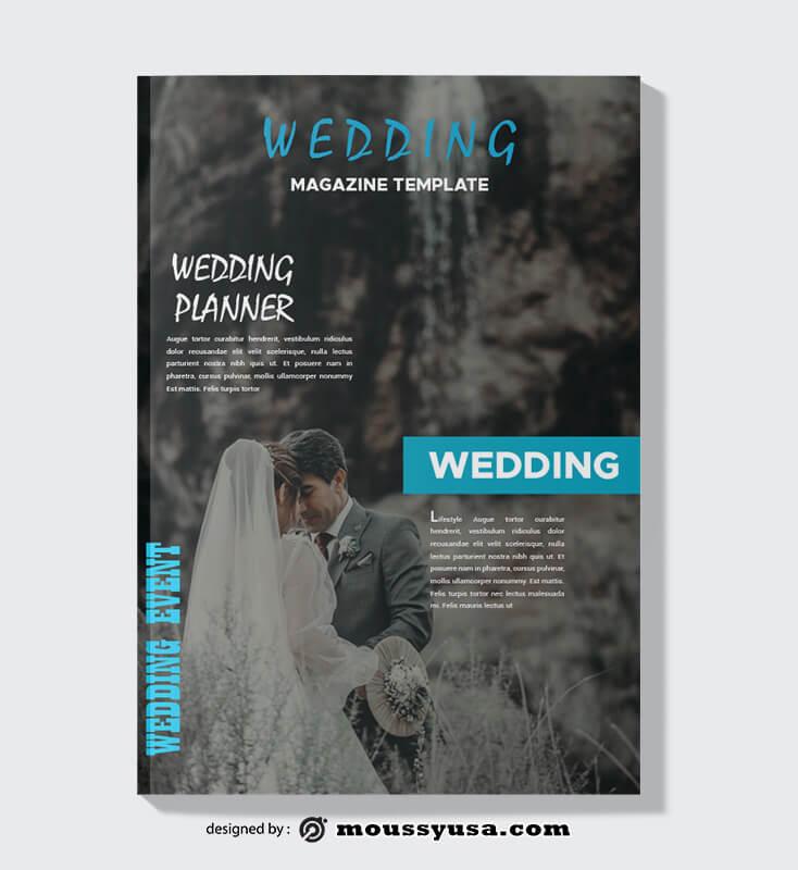 Wedding Event Magazine templates Example