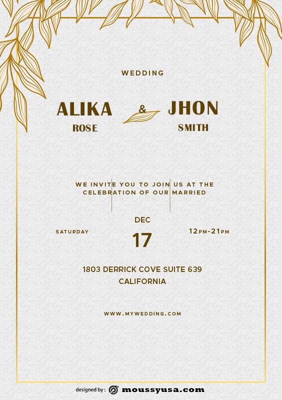 Wedding Invitation example psd design