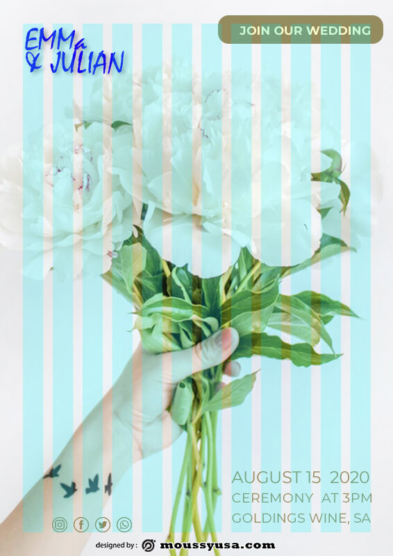 Wedding Invitation free download psd