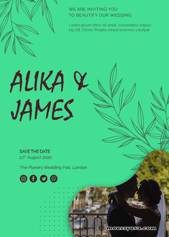 Wedding Invitation in photoshop free download