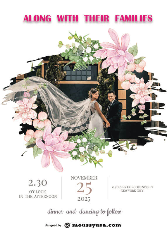 Wedding Invitation in photoshop