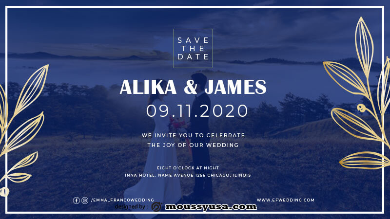 Wedding Invitation in psd design