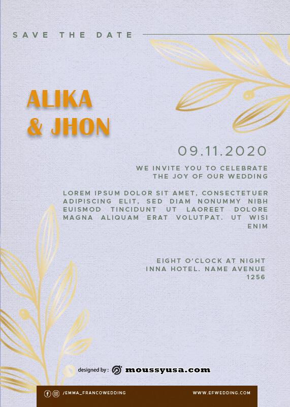 Wedding Invitation psd template free
