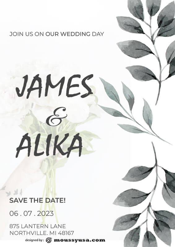 Wedding Invitation template for photoshop
