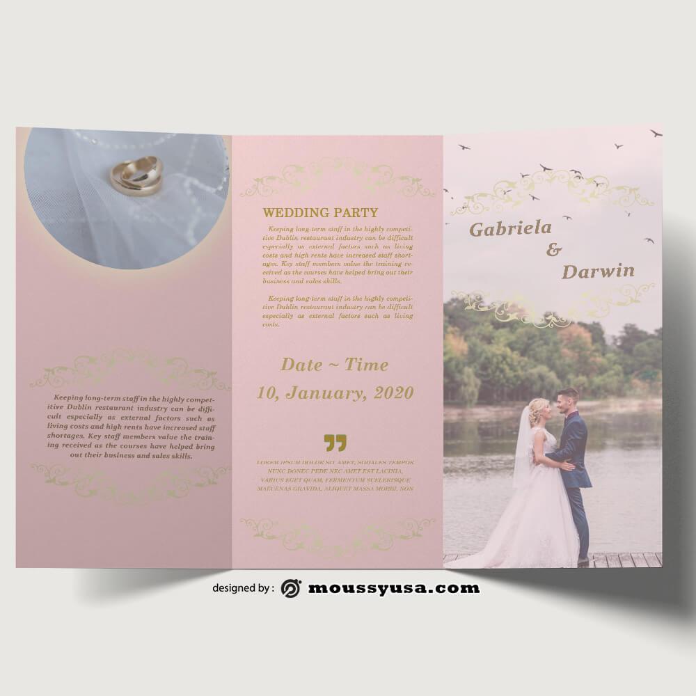 Wedding Planner brochure templates Sample
