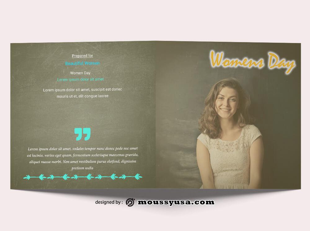 Women Day Brochure Design Ideas