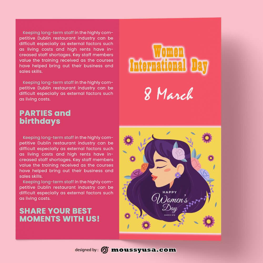 Women Day Brochure templates Sample