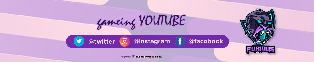 Youtube Banner example psd design