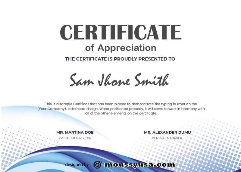award certificate free download psd