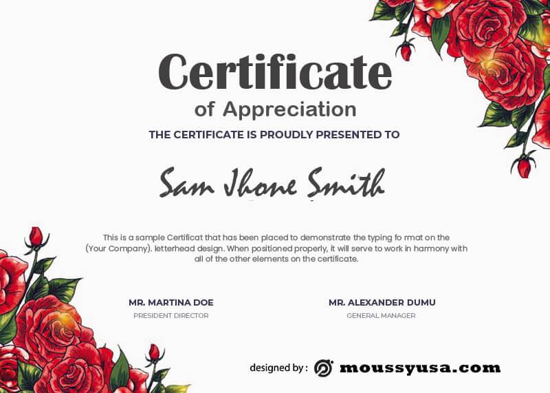 award certificate free psd template