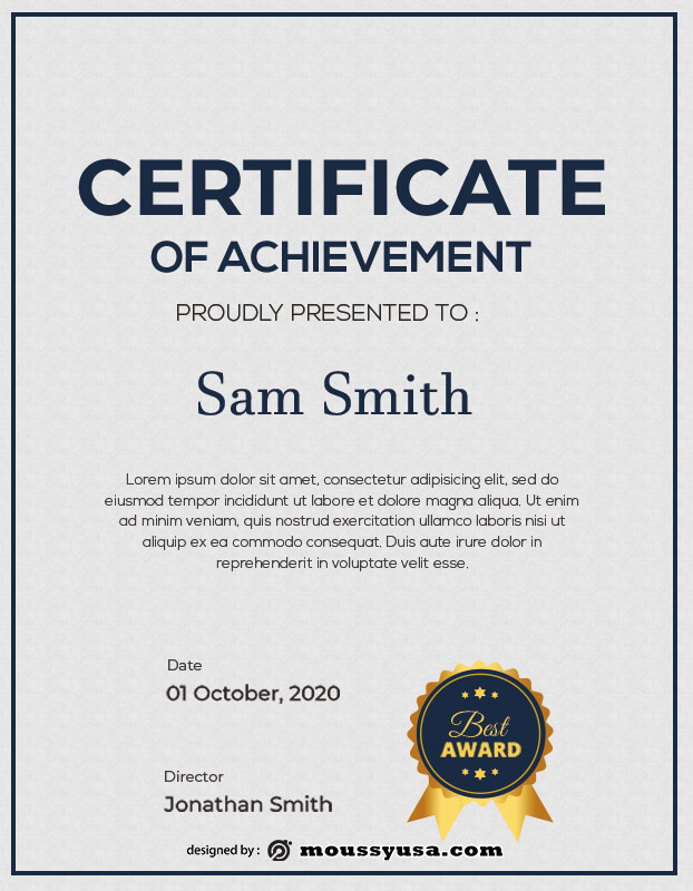 award certificate in photoshop free download